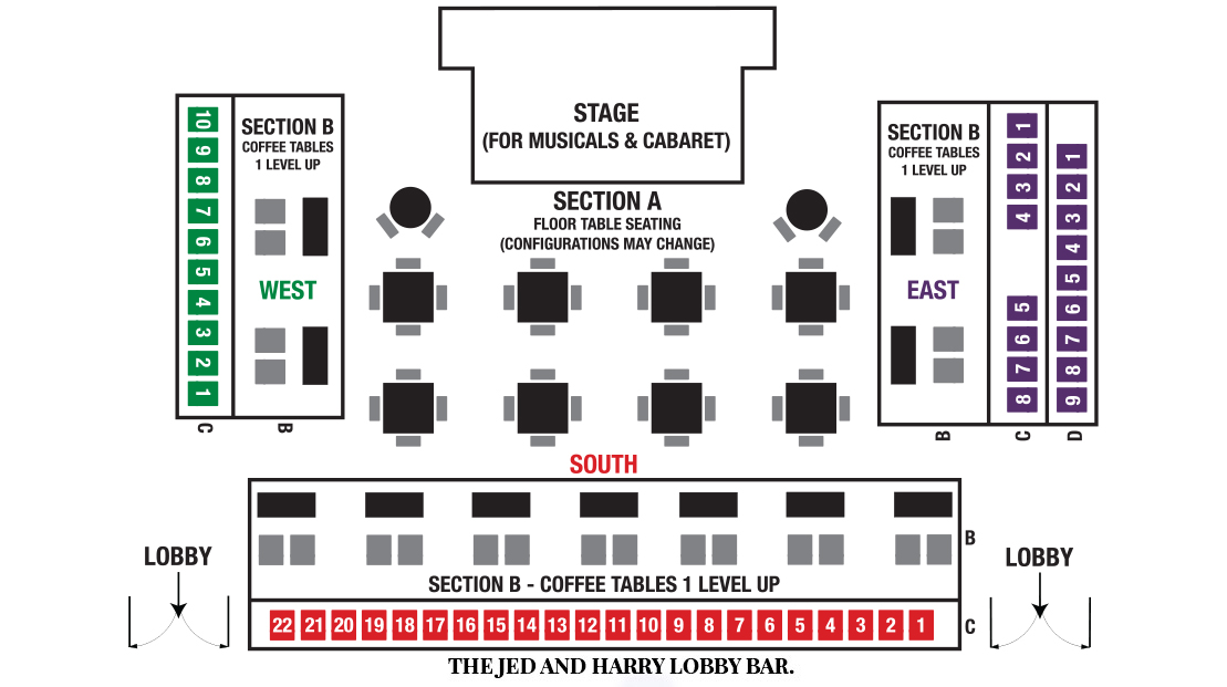 Players Circle Theater Seating Chart for Musicals Series & Cabaret Shows